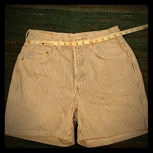 Vintage County Seat Pinstriped Jean Shorts USA